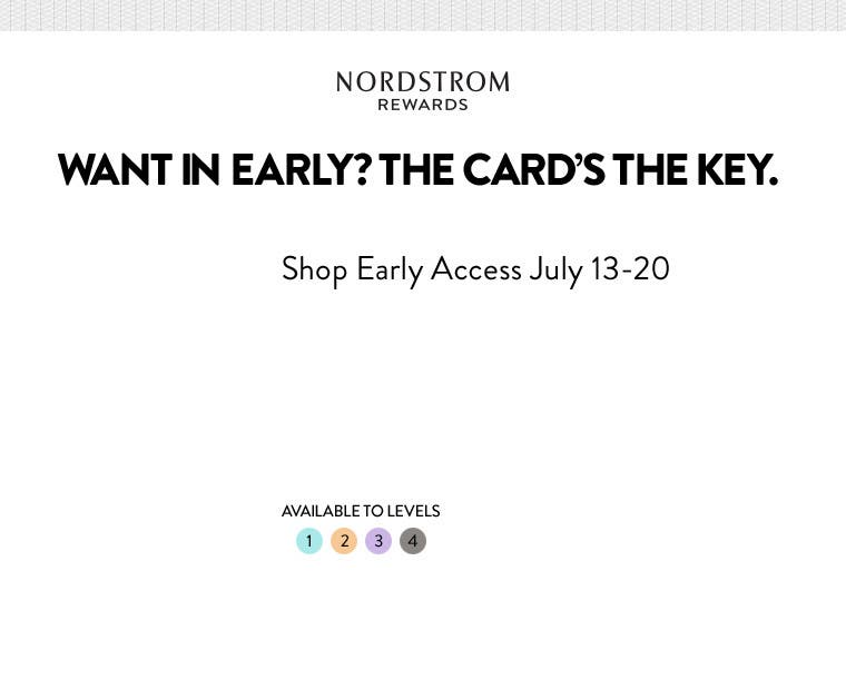 Want in Early? The Card's the Key.  Shop Early Access July 13-20