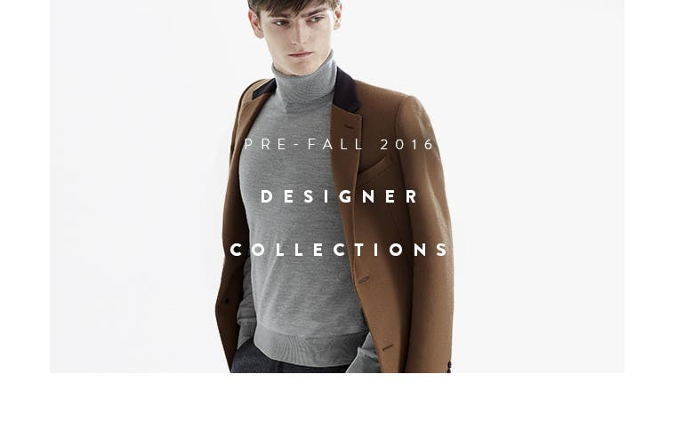 Pre-fall 2016 men's designer collections.
