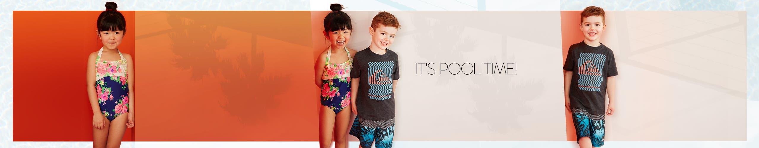 It's pool time: kids' swimwear.