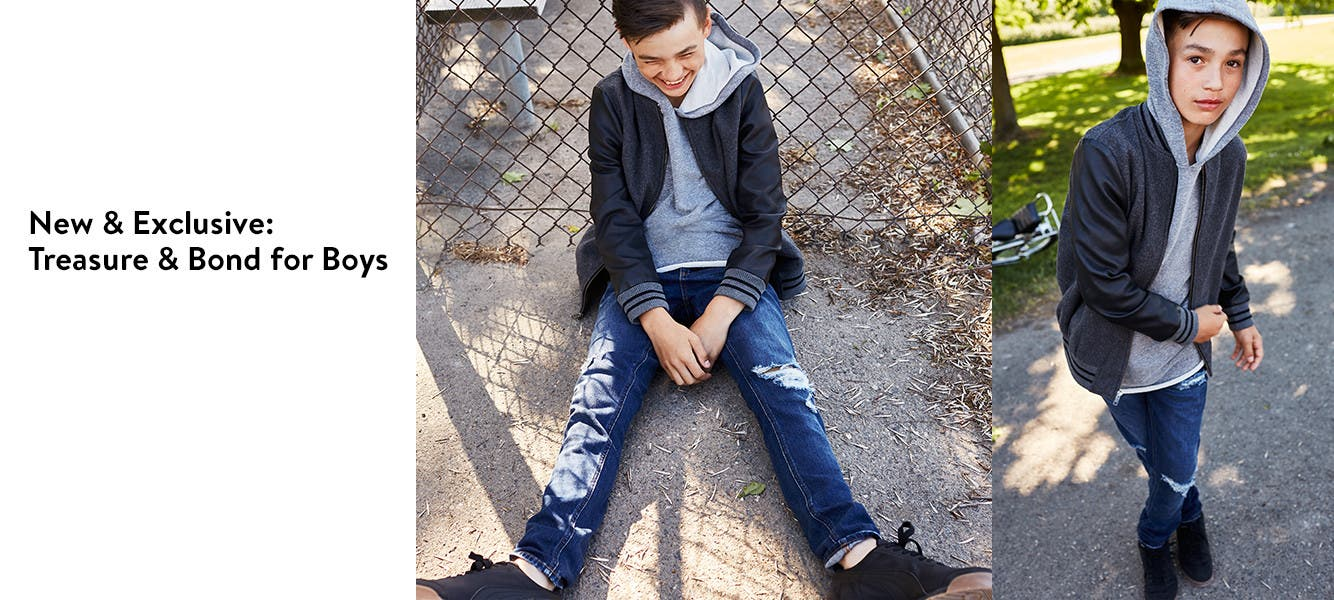 New and exclusive: Treasure & Bond for boys.