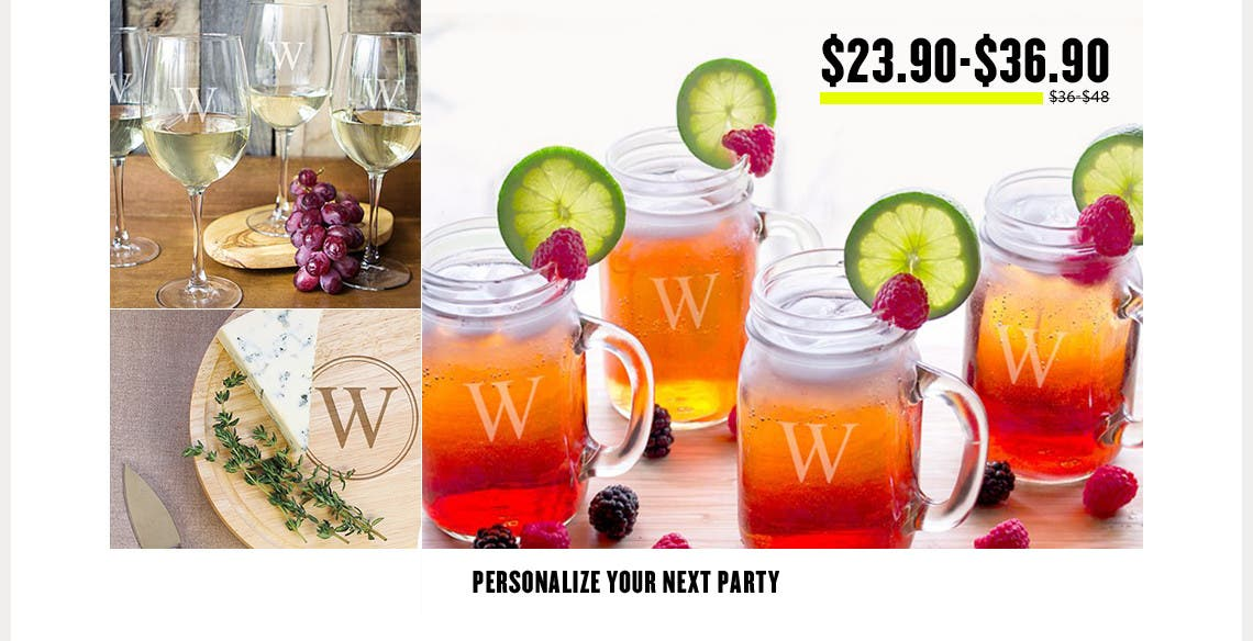 Personalize your next party.