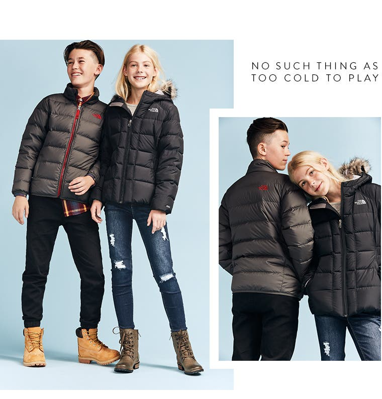 No such thing as too cold to play: kid's jackets.