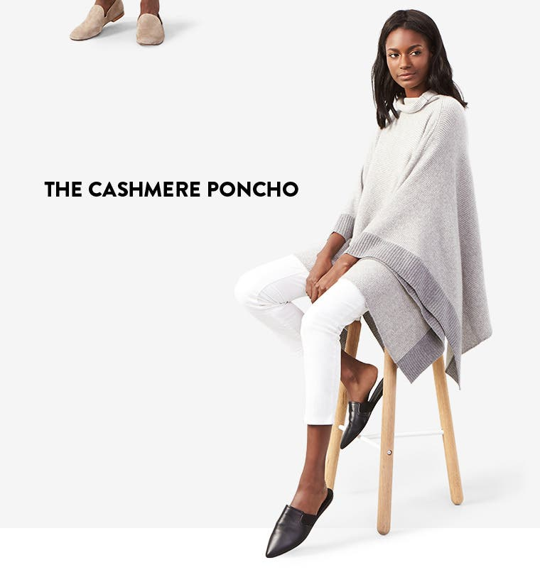 The cashmere poncho.