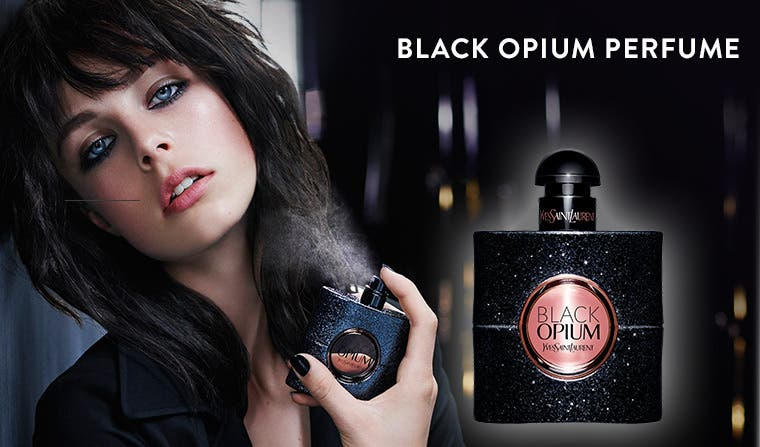 Yves Saint Laurent Black Opium perfume.