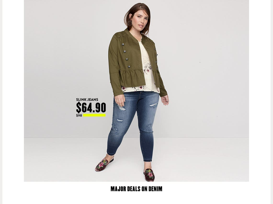 Anniversary Sale: major deals on plus-size denim.