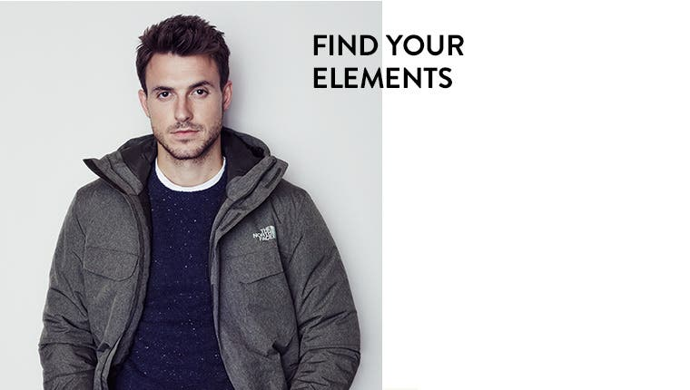 Find your elements: warm, dry outerwear for men.