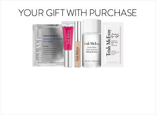 Receive a free 5piece bonus gift with your $100 Trish McEvoy purchase