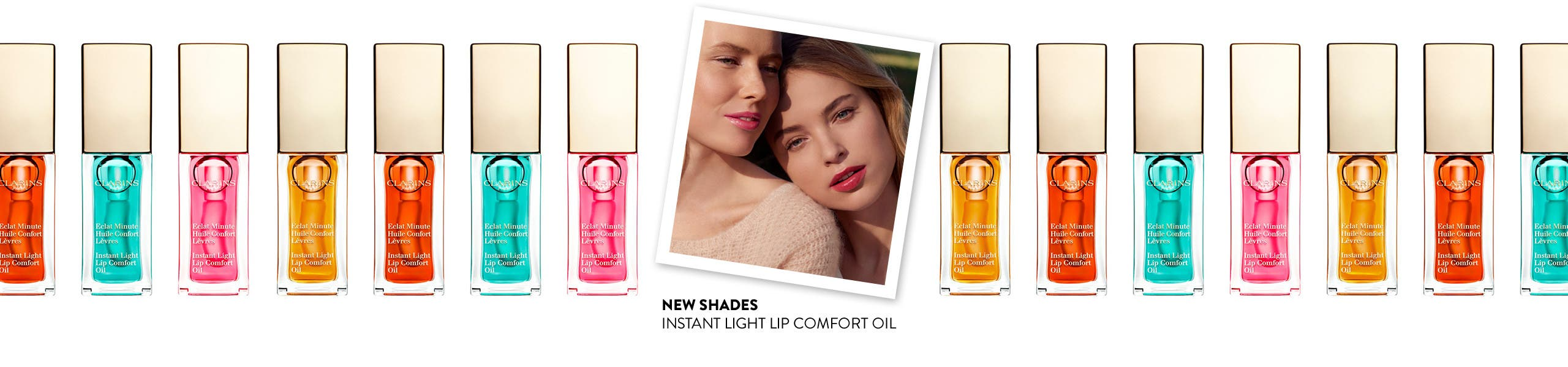 New shades: Instant Light Lip Comfort Oil.