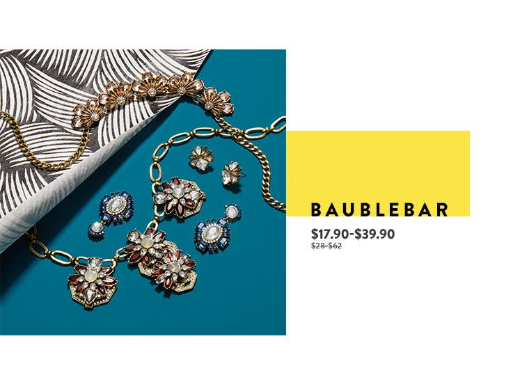BaubleBar jewelry at Anniversary sale.