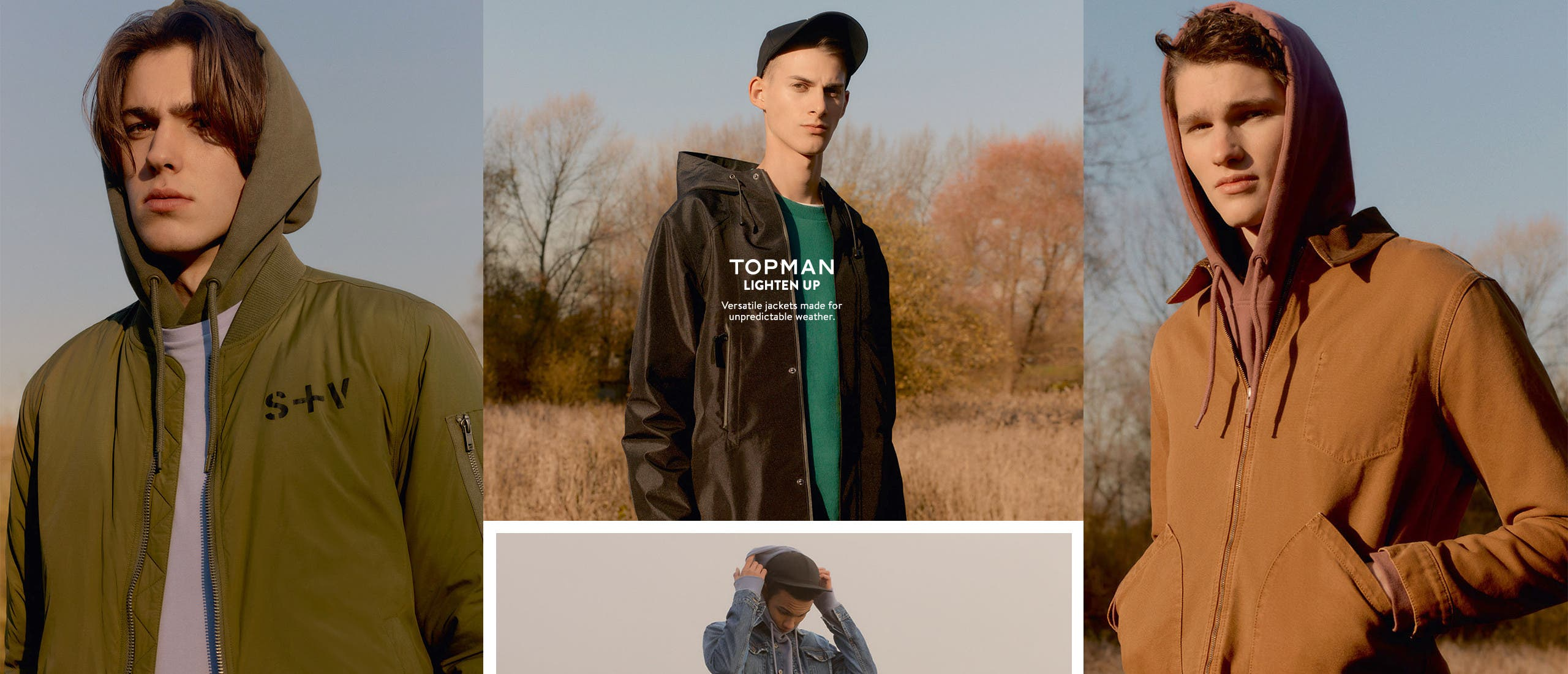 Lighten up: versatile jackets for unpredictable weather.