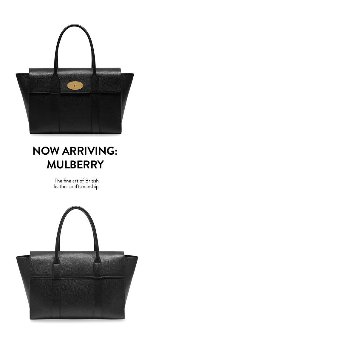 Now arriving: mulberry handbags.