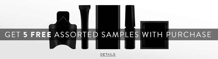 Get five free assorted samples with your beauty purchase.