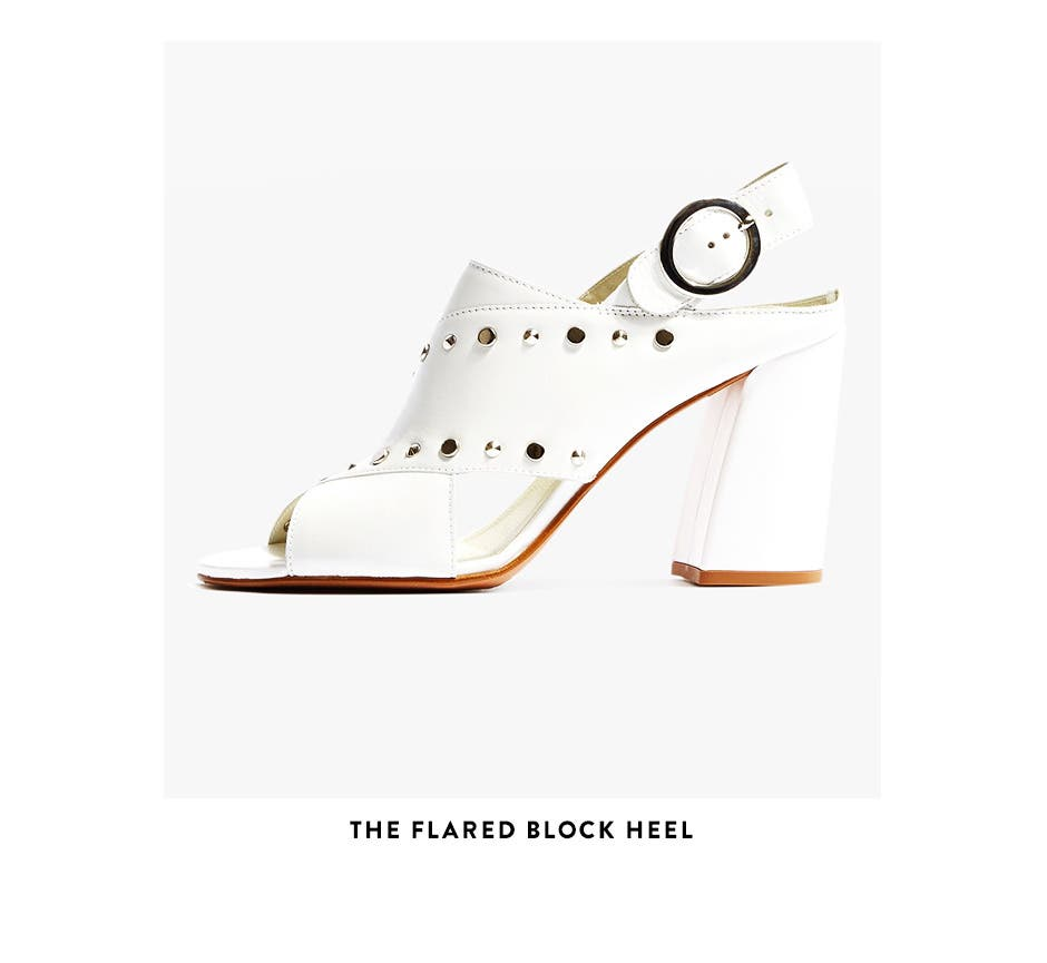 The flared block heel from Topshop.
