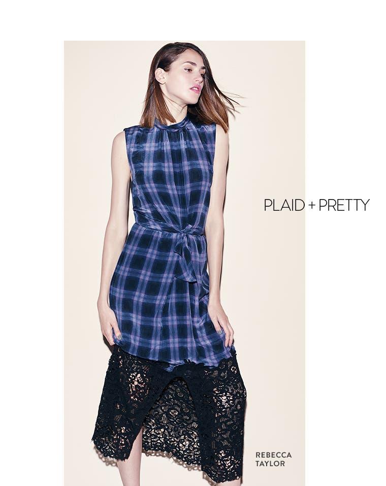 Plaid + pretty: Rebecca Taylor.