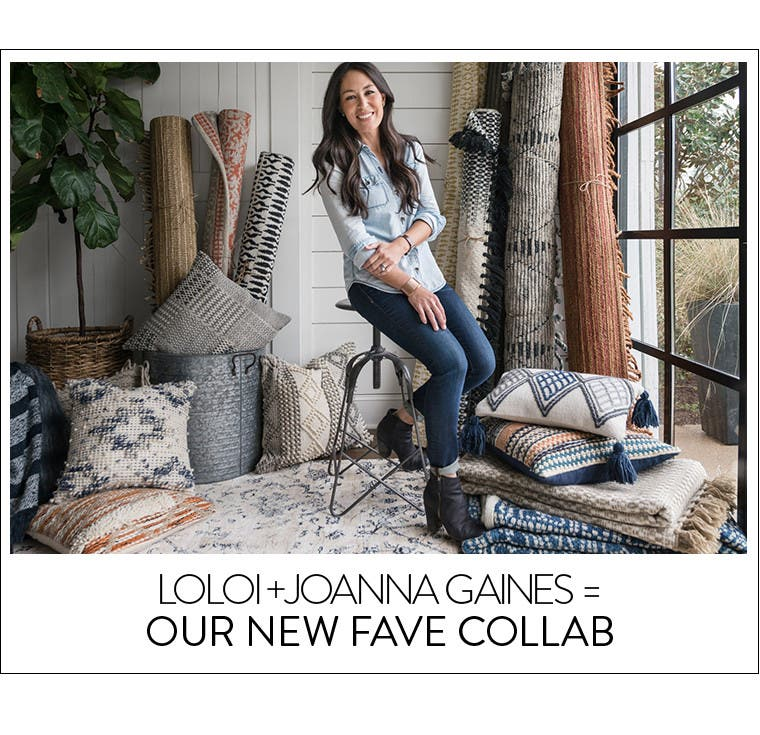 Loloi and Joanna Gaines decor collaboration.
