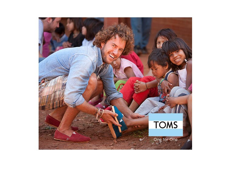 TOMS shoes and accessories.