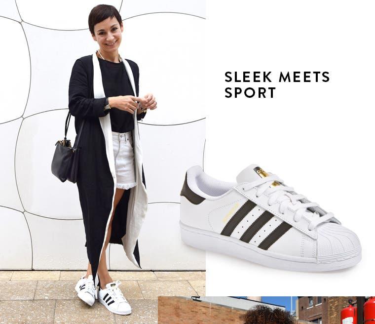Sleek meets sport: adidas 'superstar'.
