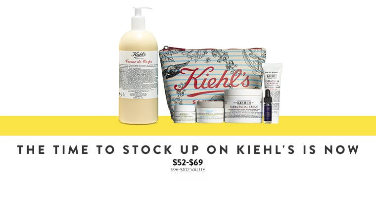 The time to stock up on Kiehl's Since 1851 skin care is now.
