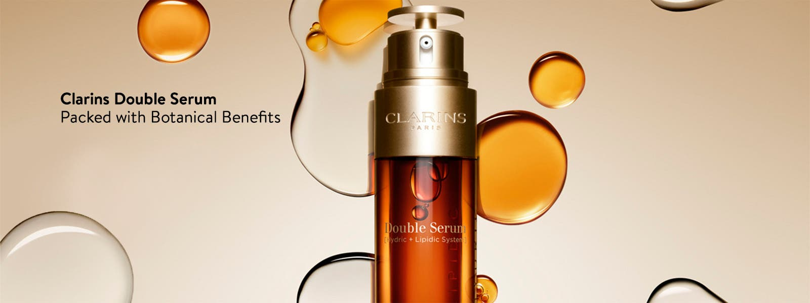 Clarins Double Serum, packed with botanical benefits.