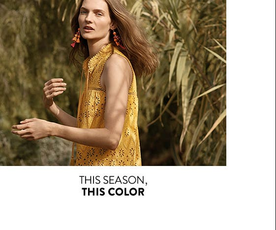 This season, we love the color yellow.