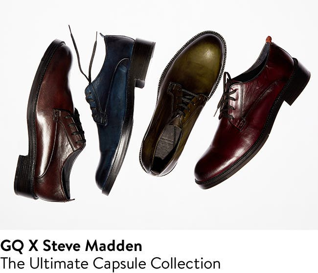 GQ and Steve Madden: the ultimate capsule collection of luxury shoes for men.