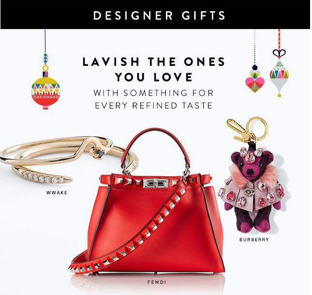 The designer gift guide: sweaters, coats, bags and more.
