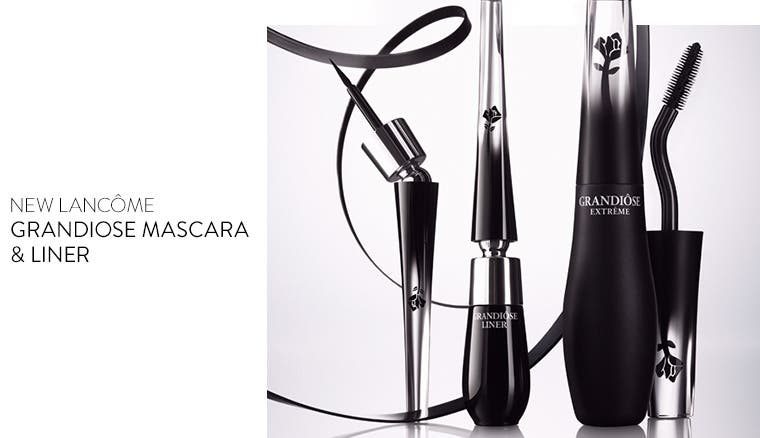 New Lancôme Grandiose mascara and liner.