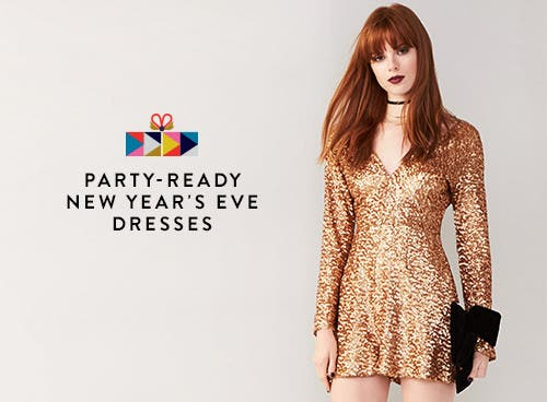 Party-ready New Year's Eve dresses.
