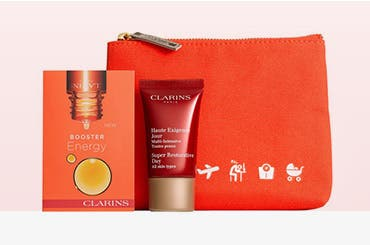 Receive a free 3-piece bonus gift with your $50 Clarins purchase & code