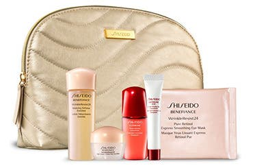 Receive a free 6-piece bonus gift with your $75 Shiseido purchase