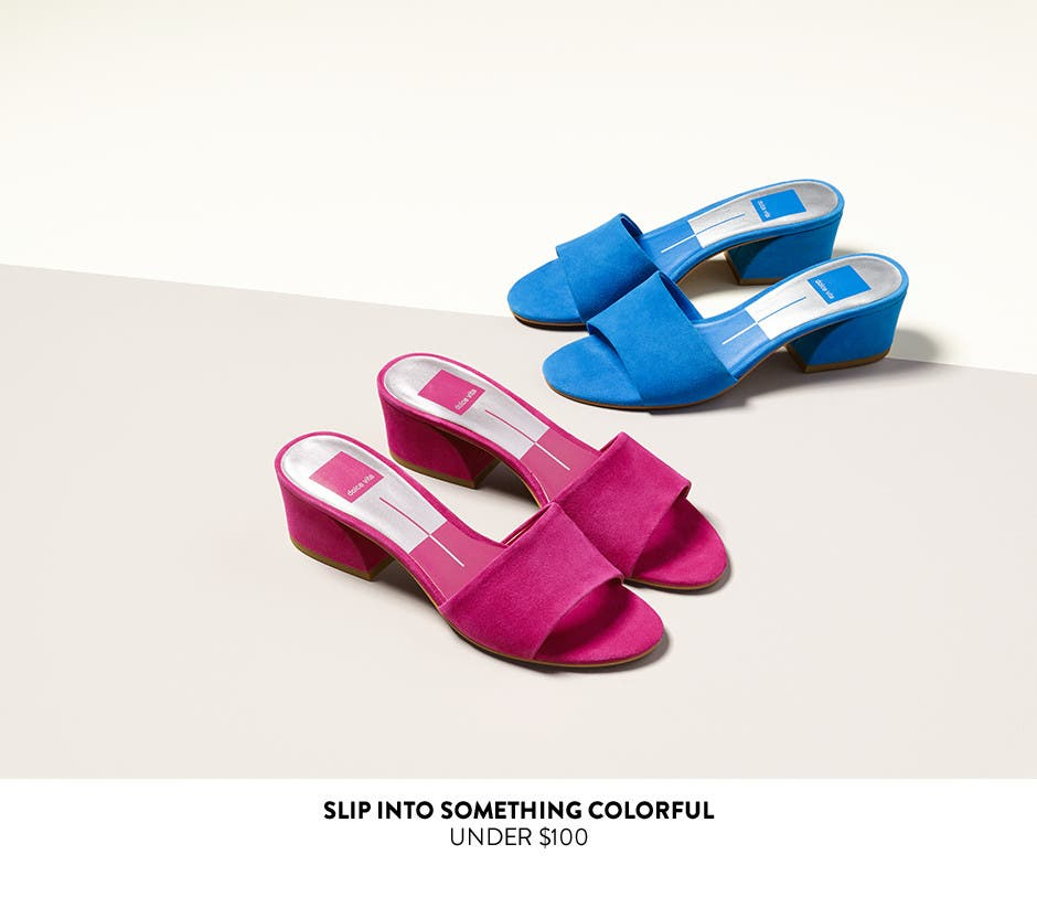 Slip into something colorful under $100.