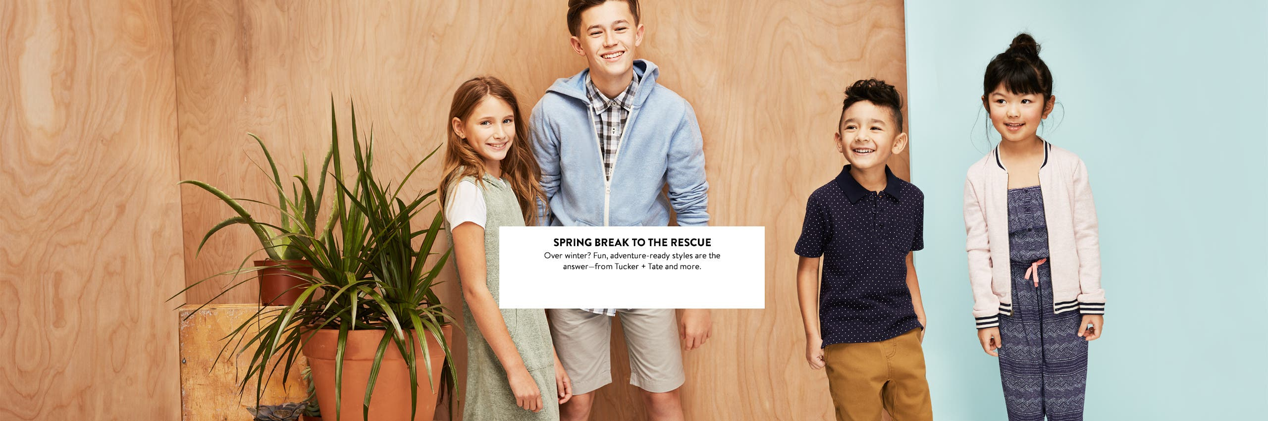 Kids' clothing for spring break and beyond.