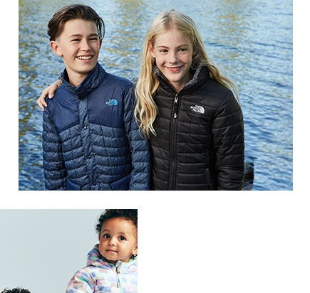 Coats and jackets for big kids from The North Face and more.