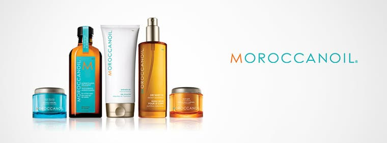 Moroccanoil skin care and hair care.