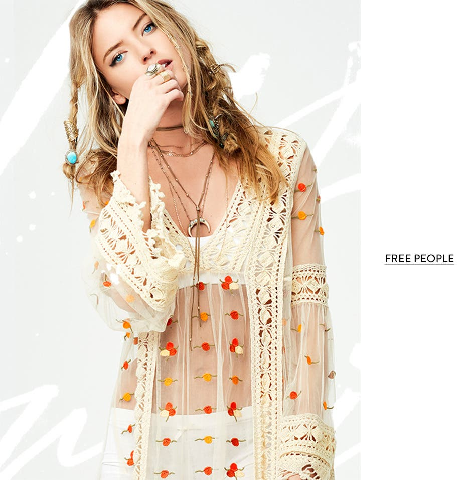 All Free People clothing.