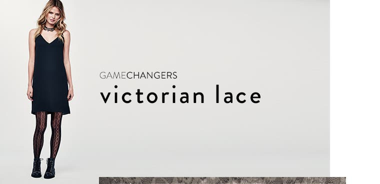 Gamechangers: Victorian lace tights.