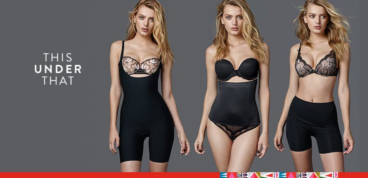 This under that: smoothing, supportive lingerie.