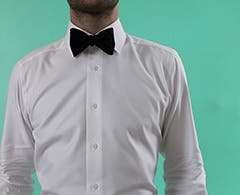 Video: How to tie a bow tie. Men's how-to video.