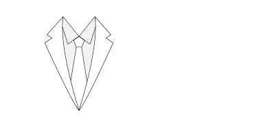 Notch lapel illustration.