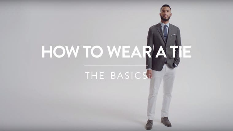 How to wear a tie. The basics.