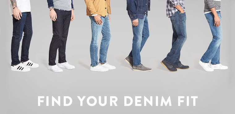Find your denim fit: men's jeans.