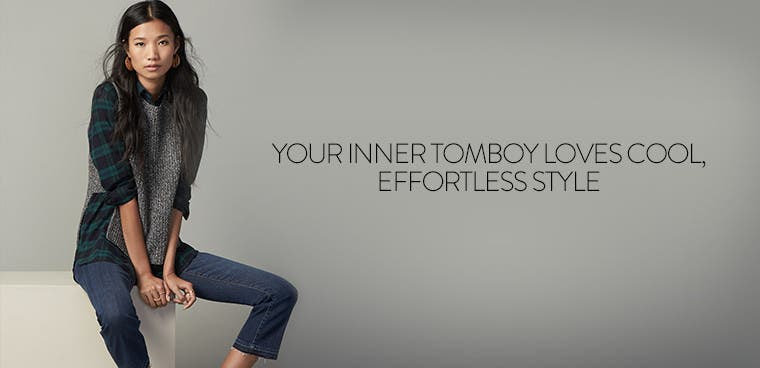 Cool, effortless styles for your inner tomboy.