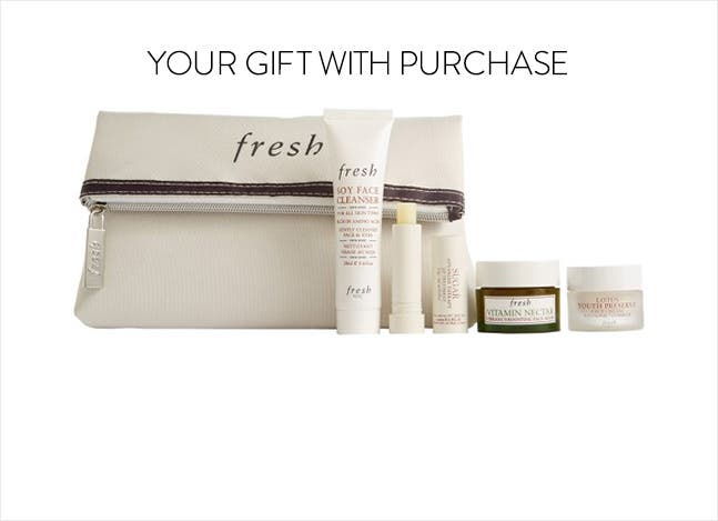 Your Fresh gift with purchase.