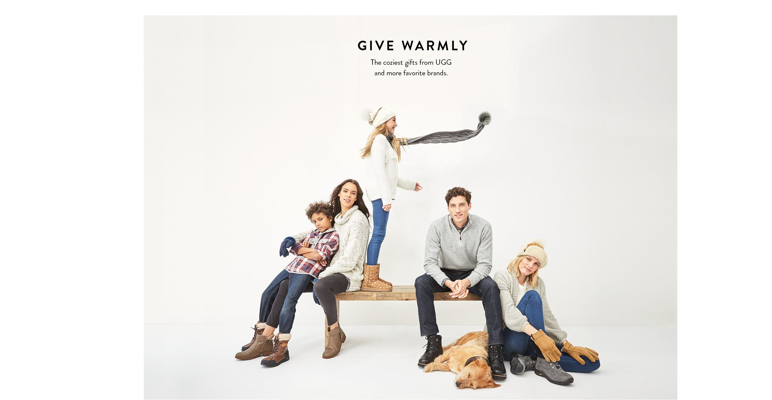 Give warmly: cold-weather gifts for women, men and kids.