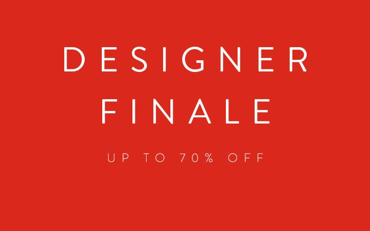 Designer Clearance: up to 70% off.
