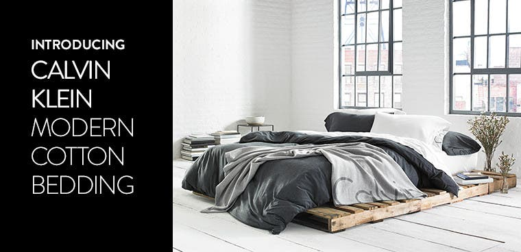 Introducing Calvin Klein bedding.