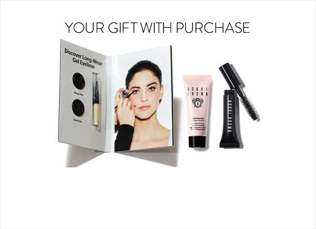Your Bobbi Brown gift with purchase.