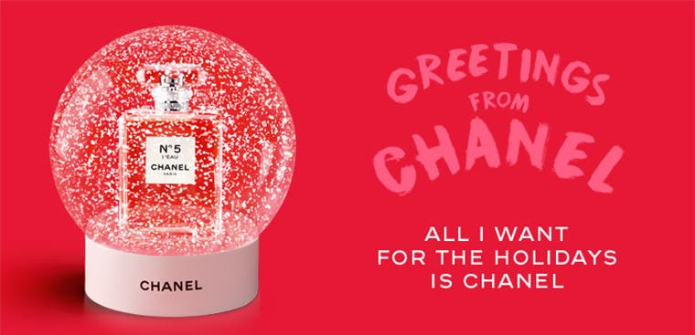 Greetings from CHANEL. All I want for the holidays is CHANEL.
