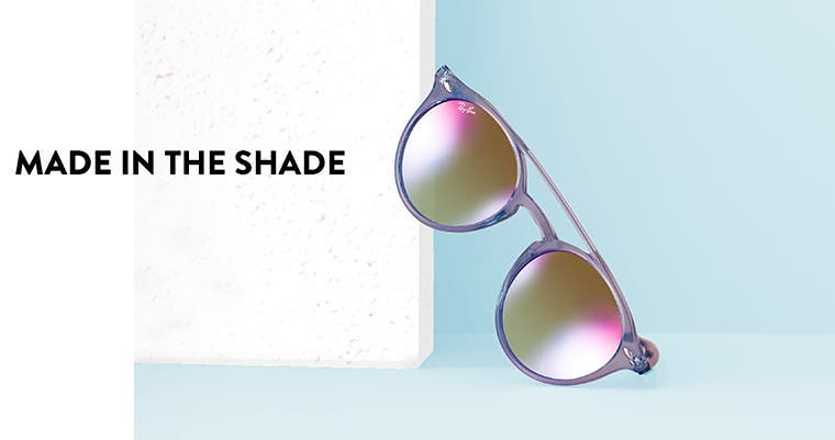 Made in the shade: vacation sunglasses.