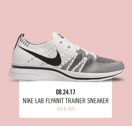 Nordstrom x Nike: new and hot Nike Lab Flyknit Trainer Sneaker.